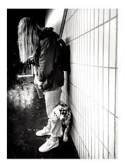 A dalmatian on the subway (streetspirit13) Tags: dog subwayphotography subway bnwphotographer bnwdemands bnwphotography bnw blackandwhite blackwhite noiretblanc blancoynegro capturestreet marseille dalmatien