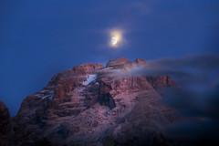 You Brighten My Nights (Daniele Pauletto) Tags: landscape nature dolomites gruppodelbrenta moon dolomiti