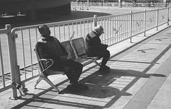 Dozing at the Station (Taomeister) Tags: neopan400 anjizhejiangchina rollei35s china sonnart40mmf28