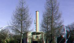 Blijdorp Diergaarde Rotterdam 3D (wim hoppenbrouwers) Tags: syboldvanravesteyn buildings blijdorp diergaarde rotterdam 3d anaglyph stereo redcyan