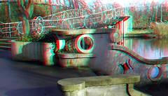 Ravesteynbrug Blijdorp Rotterdam 3D (wim hoppenbrouwers) Tags: syboldvanravesteyn buildings ravesteynbrug blijdorp rotterdam 3d anaglyph stereo redcyan