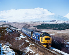 37402 'Oor Wullie' (chrissyMD655) Tags: west highland class 37 37402 br large logo livery tractor snow