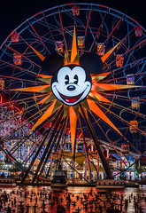 mickey's fun wheel (pbo31) Tags: disneyland nikon d810 color october 2019 la patrix siemer boury pbo31 trip park adventure anaheim california night dark black mickeymouse orange ride