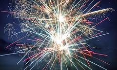 Fireworks XII (Alexander Day) Tags: firework fireworks greenville gowen mi michigan night sky blue colorful alex alexander day fourth july fourthofjuly