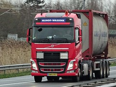 Volvo FH4 globetrotter from Nijhof Wassink Hungary. (capelleaandenijssel) Tags: nwh056 truck trailer lorry camion lkw tankcontainer tanker citerne
