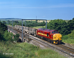 37114 'City Of Worcester' (chrissyMD655) Tags: ews class 37 37114 rellymill viaduct ecml durham tractor