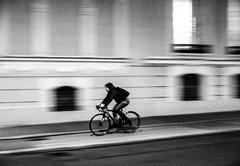 Locomotion (CoolMcFlash) Tags: locomotion flickrfriday bike bicycle street streetphotography vienna city person candid panning bnw blackandwhite blackwhite bw fujifilm x30 night motion blur drive fahrrad strase wien stadt urban mitziehen sw schwarzweis nacht bewegung bewegungsunschärfe fahren fotografie photography