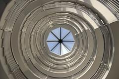 Again and again (Elbmaedchen) Tags: staircase treppenhaus interior escaliers escaleras stairs stairwell stufen steps architecture hamburg südturm hammerbrook spirale spiral roundandround upanddownstairs rund helix unterwegsmitmichael unterwegsmitmichaelhamburg silverstar light lichtdurchflutet