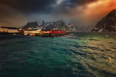 Stormy weather (yan08865) Tags: fish fishing cod mood snow sky lofoten mountains travel water lake lanscape pavlis mountain norway nordic arctic winter river nature wide photographers canon waterfront beauty earth calm le fog hamnoy cabins stormy storm waves sea seascape sunrise sunset sun clouds light