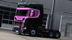 [REL] Paintable Kraemer Transport Reuver skin for Scania S Next-Gen (TheNuvolari) Tags: ets2 truck skin mod