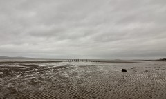 January (rrlammas) Tags: january winter sea seascape west beach water clouds wooden sticks kirby day winters wirral caldy the hilbre wales island coast north