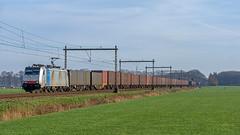 Teuge Lineas 186 446 met Volvotrein (Rob Dammers) Tags: teuge gelderland nederland