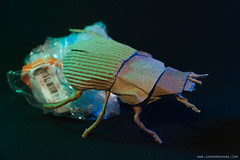 Dung Beetles (Airborne Mark) Tags: green origamiart origami beetle origamibeetle papercraft paperart papersculpture