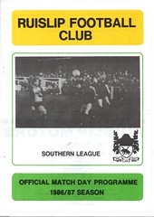 Ruislip v Waterlooville (Havant & Waterlooville) Tags: havant waterlooville ruislip southern league football programme