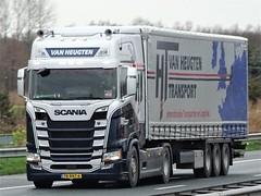 Scania R450 highline from van Heugten Holland. (capelleaandenijssel) Tags: 78bnt6 truck trailer lorry camion lkw netherlands nl nextgen