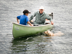 Derek Carroll (andyscamera) Tags: canada dad haliburtoncounty lakekennisis michaelsfamilyatthecottage ontario river scheurwatercarroll andyscamera boats canoe cottage family lake