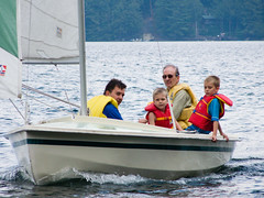 Derek Carroll (andyscamera) Tags: canada dad haliburtoncounty lakekennisis michaelsfamilyatthecottage ontario scheurwatercarroll andyscamera boats cottage family lake sailboat sailing