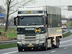 Scania R450 highline from Cargoboss Holland. (capelleaandenijssel) Tags: 79bkf4 truck trailer lorry camion lkw netherlands nl westland
