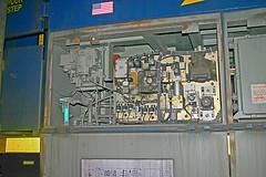 Electronic Controls, CSX Yard Locomotive, Hamlet Hump Yard, Hamlet, NC (gg1electrice60) Tags: electroniccontrols dieselengine diesellocomotive damagedincollision csxrepairshop csx csxt ge generalelectric geevolutionseries es44ah modeles44ah diesel roadlocomotive builtasgees66ac builtfourthquarterof2007 built4thquarter2997 builtbyge 127csxdrive 127csxdr richmondcounty markscreektownship markscreektwp northcarolina nc unitedstates usa us america railroadyard rrtrack railroadtracks classificationyard humpyard canondigitalrebel canoneosdigitalrebel canondigitalcamera collisiondamage outofservice shops building garage schematicdiagrom blockdiagram americanflag