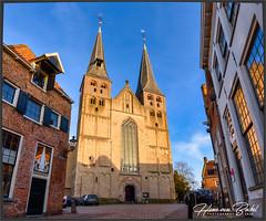 Bergkerk Deventer (Hans van Bockel) Tags: bergkwartier 1680mm city nikon nederland nikkor stad deventer overijssel lightroom d7200 pano bergkerk vertorama photoshop luminar4