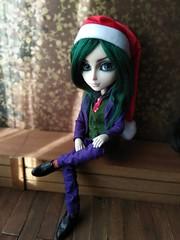 Hans Liebermann ☆ Christmas Joker (Lunalila1) Tags: doll groove taeyang albireo handmade outfit clothes lunalilaclothes suit requiem art designs pattern joker hans lieberman wool wig green woolwig costura