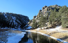 Winter Reflections (Patricia Henschen) Tags: elevenmilecanyon lakegeorge colorado pikenationalforest tellercounty southplatteriver river reflection canyon water southplatte winter snow pike nationalforest rural backroad