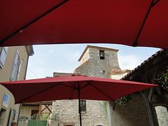 Lot-et-Garonne. Pujols. Une autre vue du clocher de l'église Saint-Nicolas (fvib'r) Tags: lotetgaronne pujols clocher