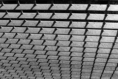 Fence (cycle.nut66) Tags: fence steel metal repeating pattern blackandwhite monochrome grayscale bars shadows perspective form geometry geometric repetition abstract olympuis e510 evolt four thirds zuiko