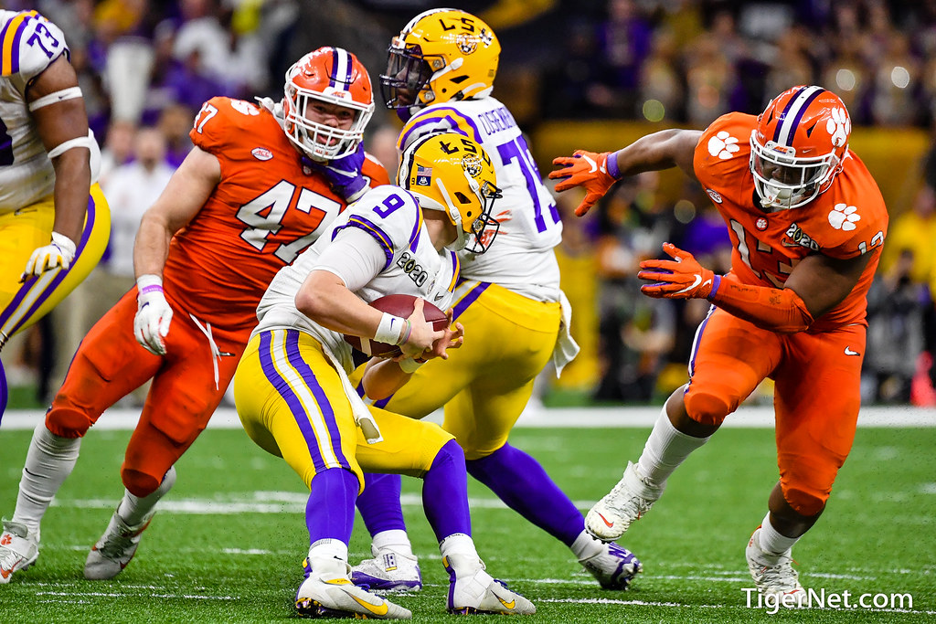 Clemson Photos: Jamie  Skalski, Tyler  Davis, 2019, Football, lsu