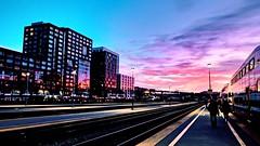 Sunset at SF Caltrain Station (somphonek24) Tags: googlefilter sanfrancisco fujixt30 caltrain sunset