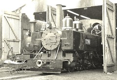2 Foot gauge Baldwin 778 on shed at Pages Park, with Hunslet No.303 behind. Leighton Buzzard Railway. 03 05 2019 (pnb511) Tags: leightonbuzzardrailway trains locomotive railway steam engine baldwin 778 narrow gauge 2footgauge narrowgauge industrial pages park 30742charters loco hunslet 303