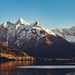 Sunset in Switzerland, Sihlsee Einsiedeln (mb.graphx) Tags: switzerland swiss mountains alps lake water sunset sun landscape nature fujifilm xt3