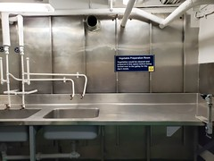 Vegetable Preparation Room (Joe Shlabotnik) Tags: charleston ussyorktown galaxys9 december2019 2019 aircraftcarrier sign patriotspoint cameraphone southcarolina