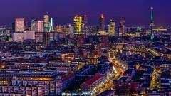 The City (Ellen van den Doel) Tags: leetowers rotterdam city blauweuur skyline zonsondergang marconitorens 2019 view stad december evening bluehour avond