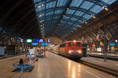 Leipzig Hbf (Nils Wieske) Tags: sachsen leipzig hauptbahnhof hbf bahnhof baureihe 110 115 kasten e10 ic intercity db bahn eisenbahn train railway railroad station