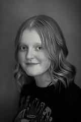 Girl in black t-shirt (johndalston) Tags: girl 85mm