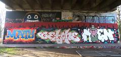 Graffiti in Amsterdam (wojofoto) Tags: amsterdam nederland netherland holland flevopark hof halloffame graffiti streetart wojofoto wolfgangjosten maty moen