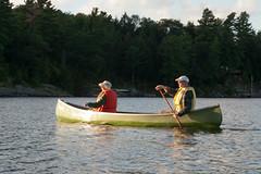 Derek Carroll (andyscamera) Tags: canada dad haliburtoncounty lakekennisis mom ontario andyscamera boats canoe family lake
