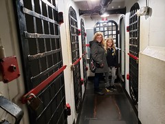 Violet & Mommy In The Brig (Joe Shlabotnik) Tags: december2019 charleston galaxys9 southcarolina ussyorktown patriotspoint sue cameraphone violet proudparents brig 2019 aircraftcarrier