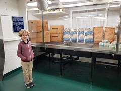 Everett And Some Of The Ingredients Needed For 10,000 Chocolate Chip Cookies (Joe Shlabotnik) Tags: charleston ussyorktown galaxys9 december2019 2019 aircraftcarrier everett justeverett patriotspoint cameraphone southcarolina
