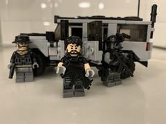 """Bravo 6, going dark"" (Robbie .L) Tags: brickarms toys specialforces suv vehicle truck modernwarfare callofduty bravo6 soldiers mercenaries army lego"