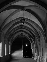 Maulbronn Monastery Entrance Hall (Deepmike70) Tags: klostermaulbronn monastery blackandwhite hall