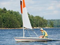 Derek Carroll (andyscamera) Tags: bombardier canada dad haliburtoncounty lakekennisis ontario andyscamera boats family lake sailboat sailing