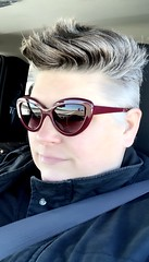 Day 337 of Year 10- errands... (Pahz) Tags: 365days selfportrait year10 over40 thisis50 pixiecut sunglasses driving