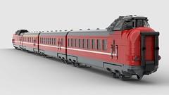 DSB MA 3 (NikoNissen) Tags: dsb tog train zug ma litra br 115 vt rød lyntog dansk lego moc mod tåg danish nikonissen