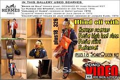 plus18_326 (Tamara silkscarf) Tags: blindoff hermesscarf scarfbondage raincoat aguraincoat agurainwear regenjacke klepper regenjas headscarf kopftuch platok