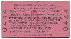 Western China Clay (R~P~M) Tags: train railway ticket england uk unitedkingdom greatbritain britishrailways westernregion railtour special