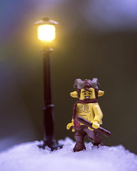 Be the light in someones life. (Shelly Corbett Photography) Tags: lensbaby omnifilter toyphotography lego legophotography mrtumnus narnia blue hour winter