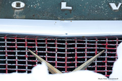 Volvo PV 444! (petergranström) Tags: approved volvo pv 444 hood huv snow snö grille grill green grönt