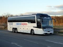 Photo of 54410 / BV19 XPN - Volvo B11RT / Caetano Levante 3 - Stagecoach Yorkshire - National Express - Milton Keynes Coachway 12Jan20
